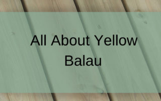 Yellow Balau Decking