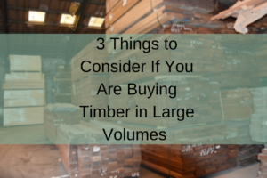Large Volumes of Timber